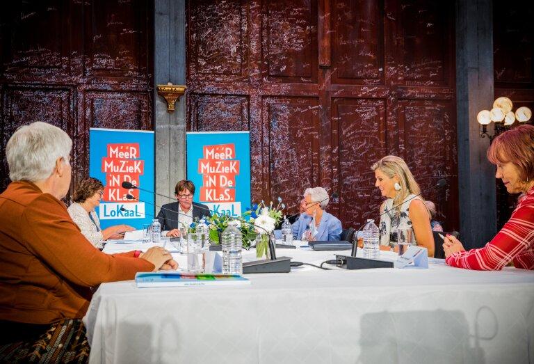 De landelijke MuziekTafeldag 2020 met erevoorzitter van Méér Muziek in de Klas Koningin Máxima