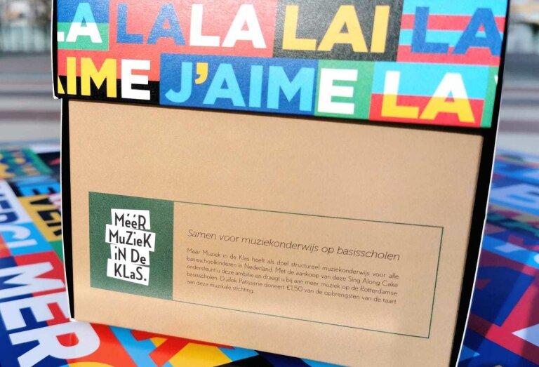 Jarig Dudok steunt Méér Muziek in de Klas en presenteert 'SING ALONG cake'