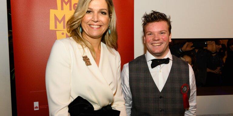 Norad Bos, winnaar Loftrompet 2018 met Koningin Máxima