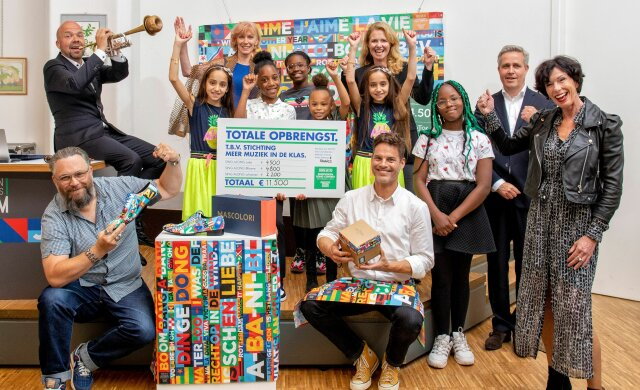 Opbrengst Host City 'Sing Along' schoenen voor muziekprojecten in Rotterdam