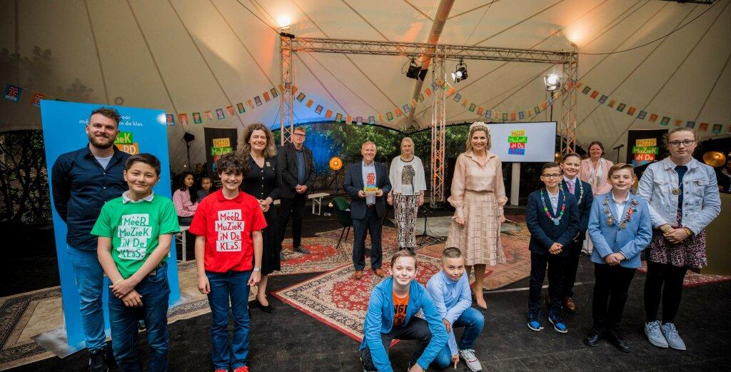 Koningin Máxima bij viering successen muziekonderwijs in Utrecht, Noord-Holland en Flevoland