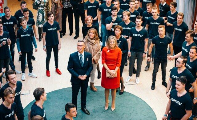 Koningin Máxima bezoekt muziekpabo in Helmond