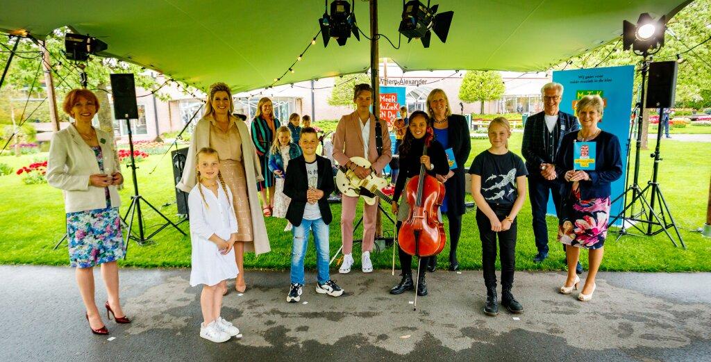 Koningin Máxima bij viering successen muziekonderwijs in Zuid-Holland en Zeeland
